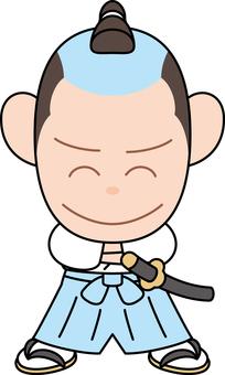 Comical samurai yoshi