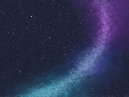 Night sky frame background illustration