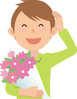 70214. Male, bouquet