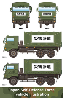 Car side 29 Self-Defense Forces vehicle Large truck