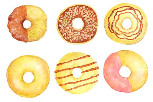 Donut watercolor illustration (2)