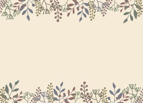 Autumn flower frame-8