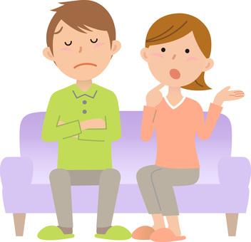 Couple's sofa, purple 3