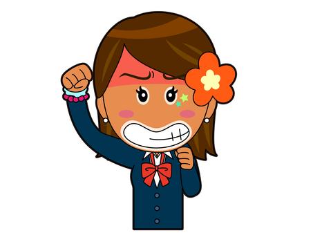 Get angry _ Kogal high school girl A_013