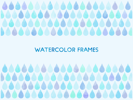Watercolor touch drop drop background material