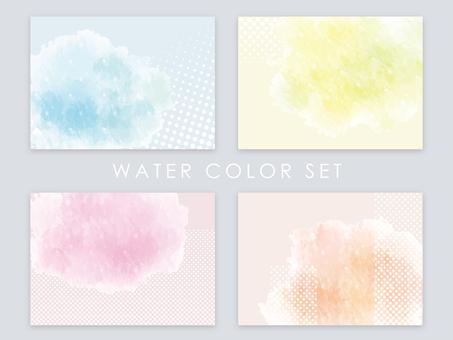 Watercolor and polka dot frame