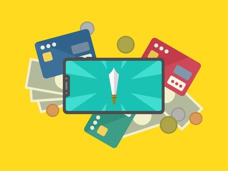 Smartphone game billing simulation