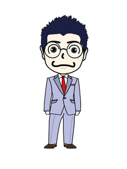 Eyeglass businessman ④