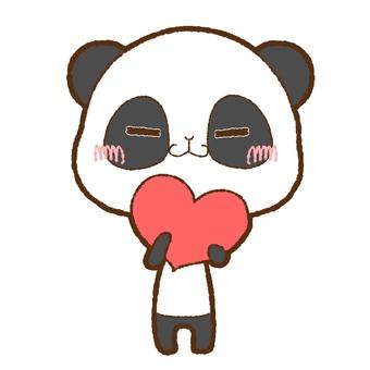 Panda with heart