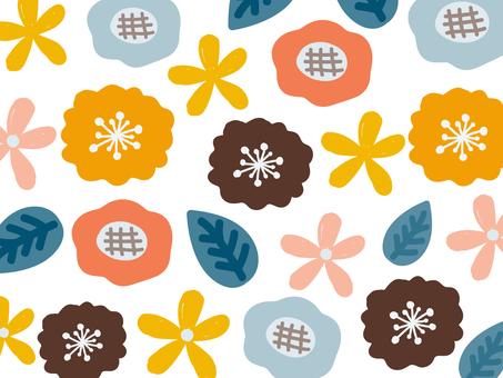 花の背景素材 パターン