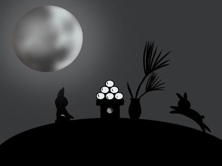 Moonlit silhouette wallpaper