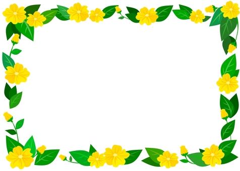 葉っぱと花フレーム