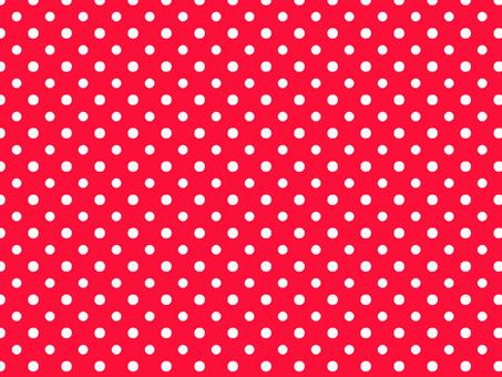 White polka dot pattern on red background