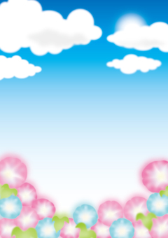 Morning sky blue sky frame background