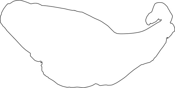 Lake Yamanaka _ line drawing