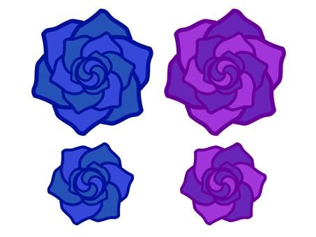 玫瑰藍/紫色