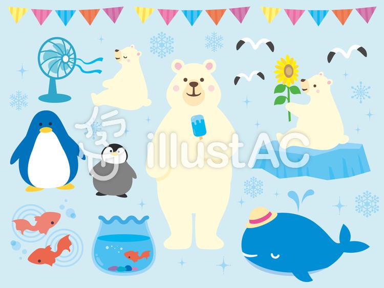 夏の動物のイラストイラスト No 505423無料イラストならイラストac