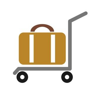 Package on cart