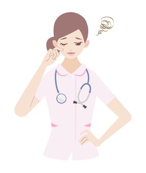 Melancholy woman (in nurse)