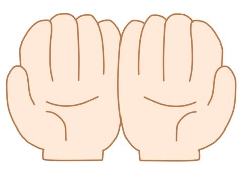 손바닥 양손