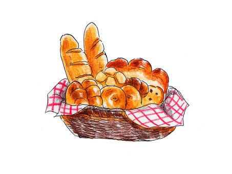 Heaps of bread's baskets