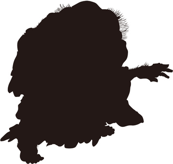 Ukiyo-e character silhouette part 89