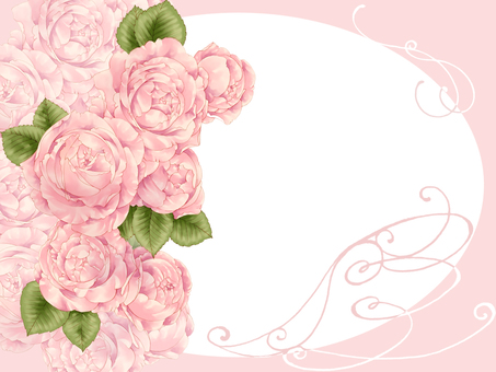 Pink Rose Frame