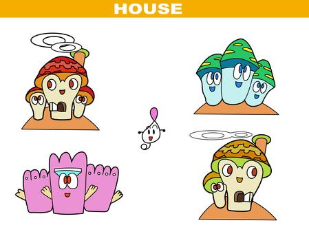 Manga style - house set