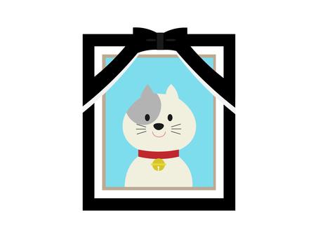 猫さんのお葬式イラスト