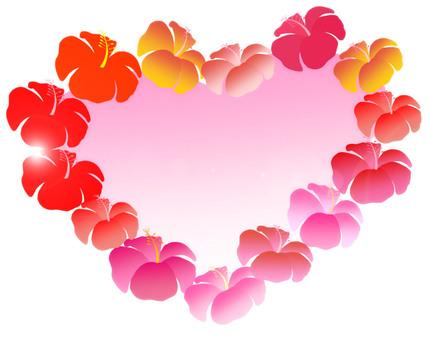 Hibiscus (heart frame)
