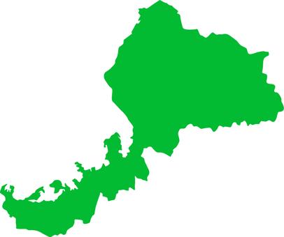 Fukui Prefecture _ Silhouette _ green