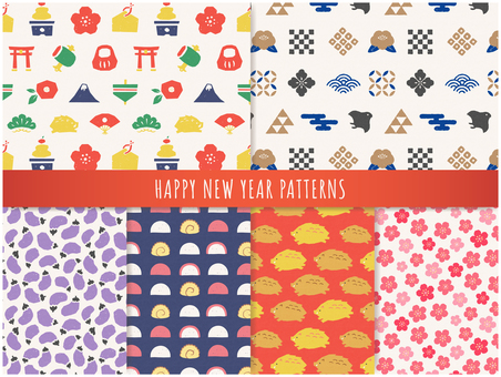 Pop New Year pattern set