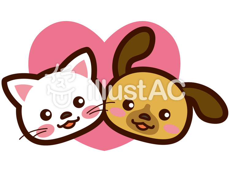犬と猫の仲良しなイラストイラスト No 256026無料イラストなら