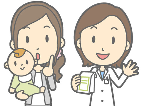 Pharmacist and patient - Child friendly mom - Bust