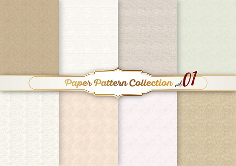 Paper pattern material 01