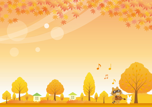 Scenery of one frame in autumn