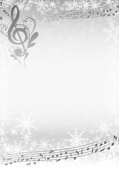 흑백 겨울 음악 프레임
