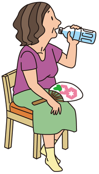 Granny who drinks water