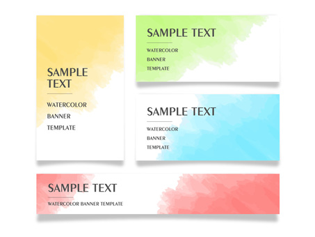 Watercolor banner template set
