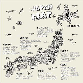 Japan Map Illustration
