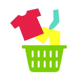 Laundry basket and laundry