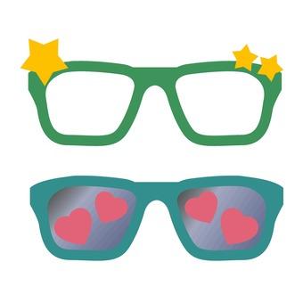 Photo props glasses 2