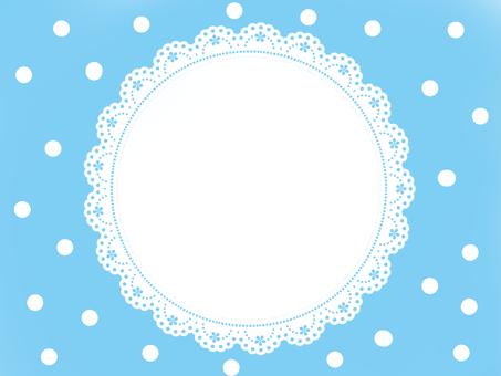 Water polka girly frame