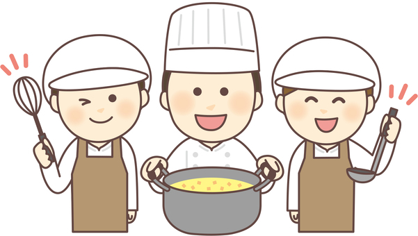 Cooking staff 3 people _ apron