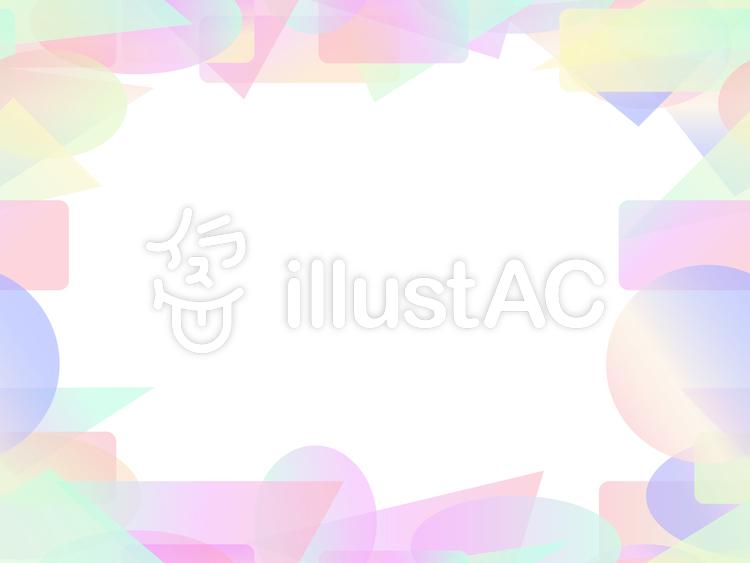 パステル調のカラフルな短形フレーム1b