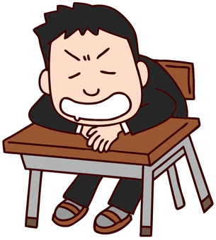 Illustration of a dozing student