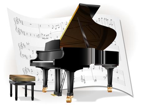 그랜드 피아노와 악보 No2
