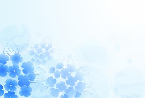 雨背景_紫陽花04