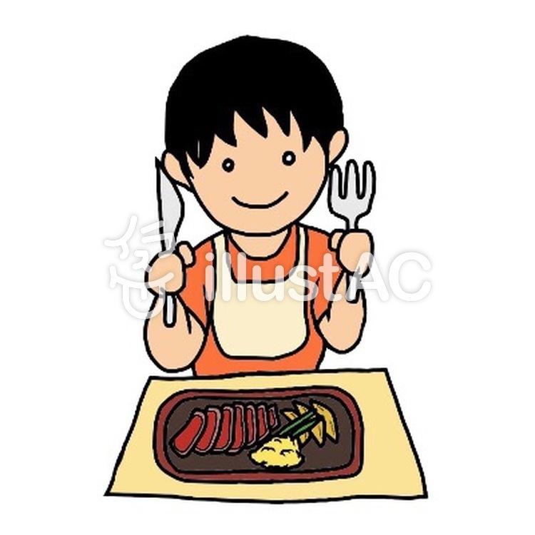 子ども食事イラストイラスト No 704603無料イラストならイラストac