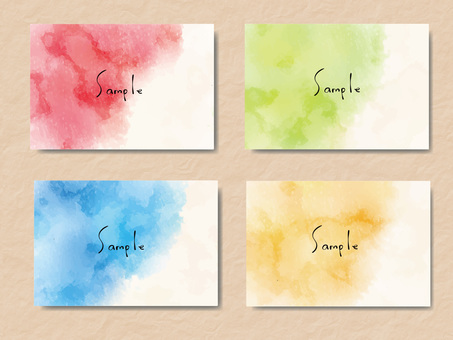 Watercolor frame set ver 01